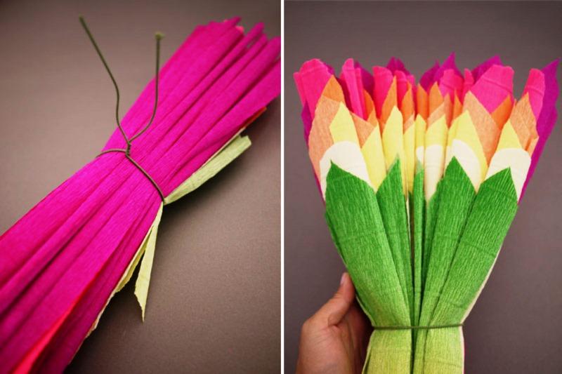 Поделки из бумаги своими руками цветы из гофрированной бумаги своими руками