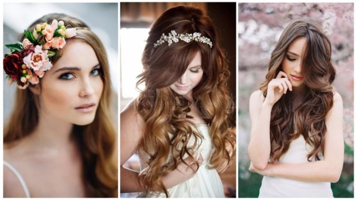 Прически на свадьбу с распущенными волосами на свадьбу