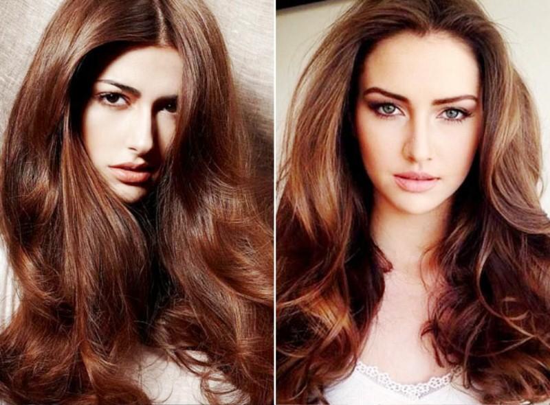 Оттенки цвета волос брюнеток