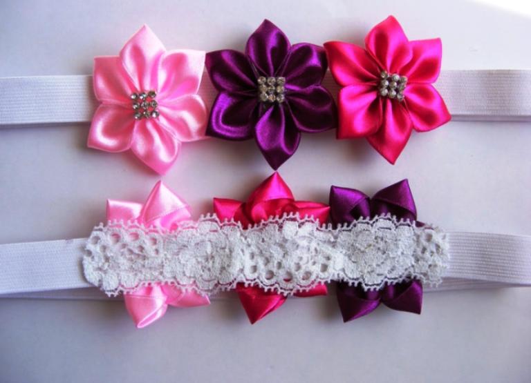 Как сделать из ленты цветок для волос