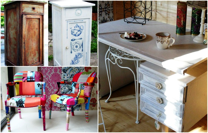 переделать старую мебель в современную предоставляет авторам возможность