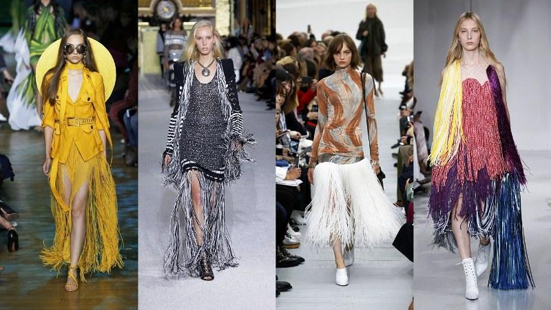 Одежда с бахромой: Elie Saab, Balmain, Celine, Calvin Klein