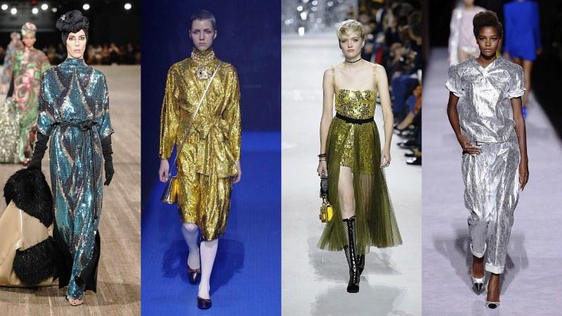 Блестящая одежда: Marc Jacobs, Gucci, Dior, Tom Ford