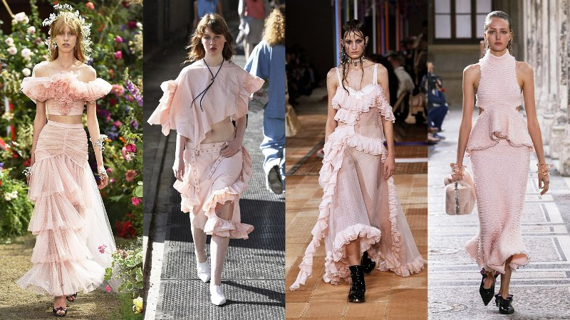 Розовый total look: Rodarte, Marques Almeida, Alexander McQueen, Proenza Schouler