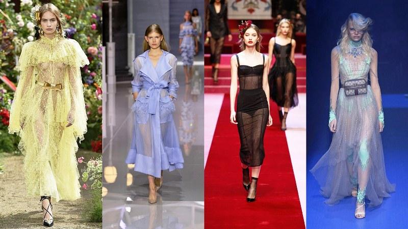 Прозрачная одежда: Rodarte, Ralph & Russo, Dolce & Gabbana, Gucci