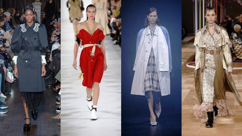 Полупальто, тренчи: Rochas, Maison Margiela, Balenciaga, Alexander McQueen