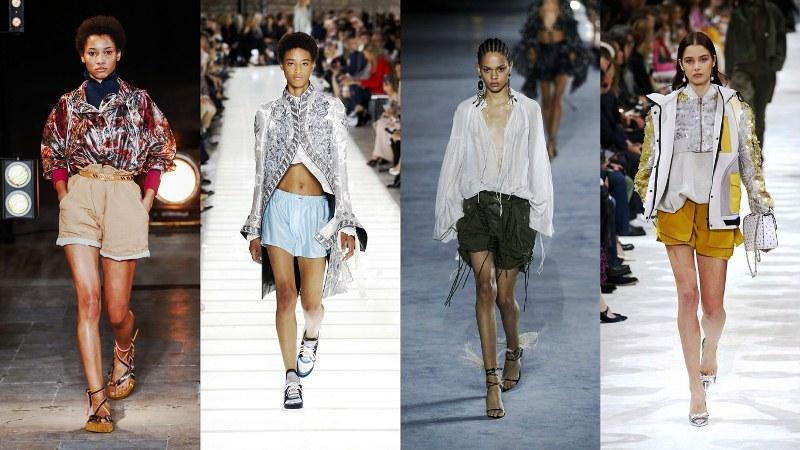 Женские шорты: Isabel Marant, Louis Vuitton, Saint Laurent Paris, Valentino