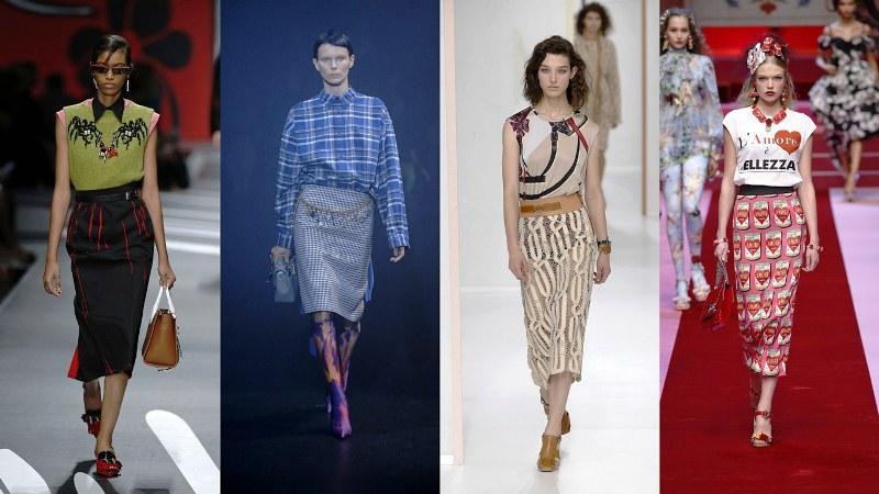 Юбки: Prada, Balenciaga, Hermes, Dolce & Gabbana