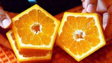 пятиугольные апельсины.