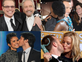 звездные поцелуи Award Season 2014