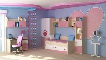 Дизайн детской комнаты для девочек - Модерн