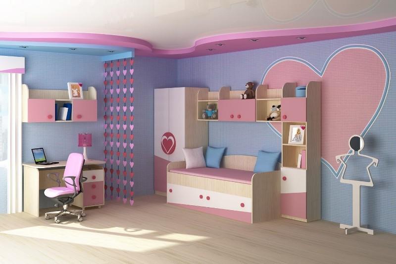 дизайн детской комнаты для девочки в розовых тонах фото дизайн