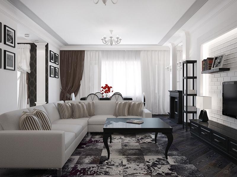 стили дизайна интерьера гостиной