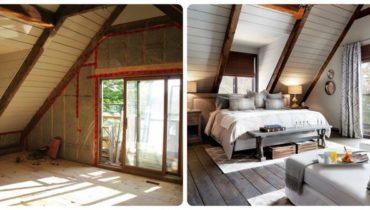 До и после ремонта спальни