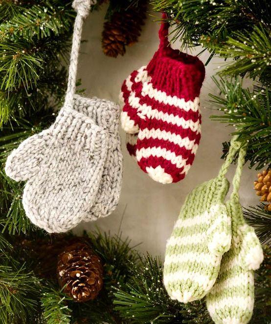 Вязаные украшения для новогоднего декора - Фото Креатив