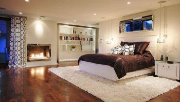 Спальни с камином