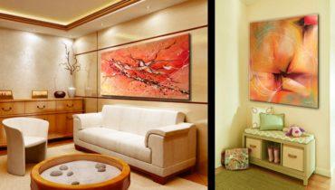 Картины в интерьере квартиры фото