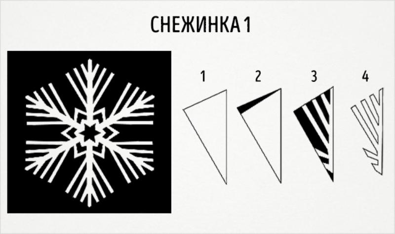 Схема как вырезать снежинку фото 364