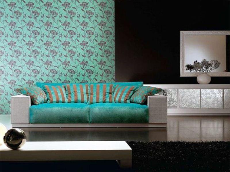 Бирюзовые обои в интерьере, оттенки и сочетания – Фото Дизайн интерьера