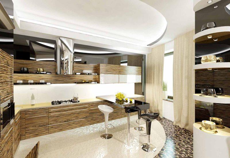 современный дизайн кухни 2018 2019 года фото дизайн интерьера