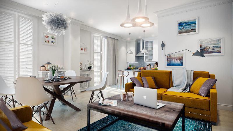 интерьер 3 х комнатной квартиры в скандинавском стиле фото дизайн
