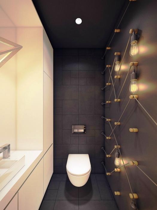 Дизайн туалета маленького размера в квартире Дизайн маленького туалета в цветах