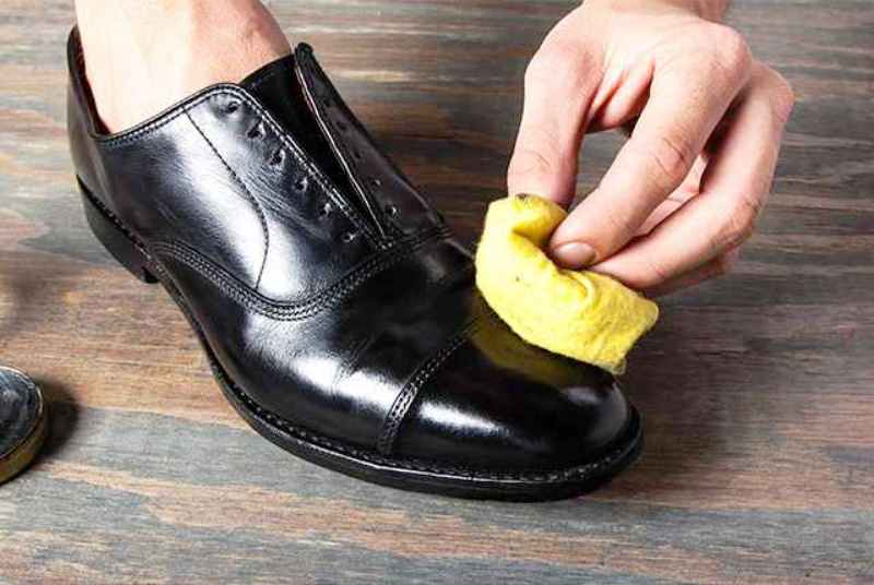 Brush shoes  Unusual Ways to Use Lip Balm