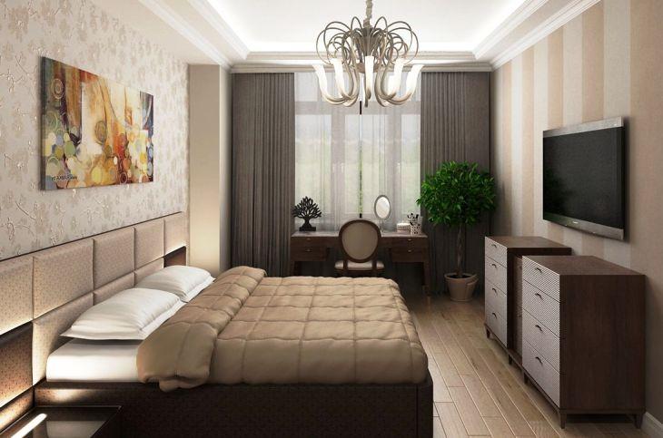 кровать в однокомнатной квартире какую выбрать фото дизайн интерьера
