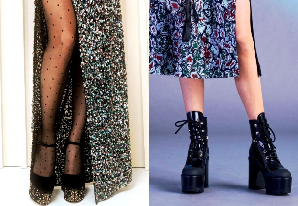 d1e19088 Хотите добавить своему образу нотку экстравагантности? Смело выбирайте обувь  на платформе — так утверждают Versace и Elie Saab