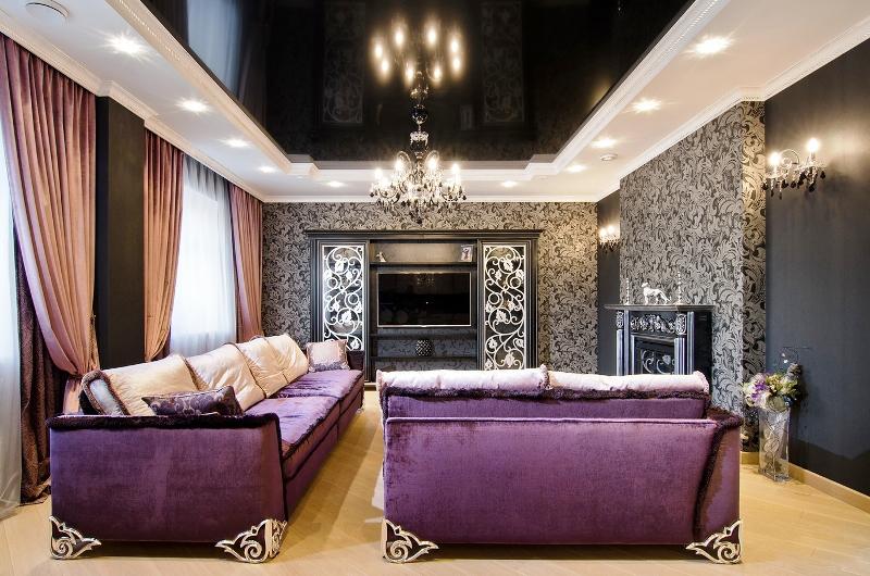 Обои для гостиной: современный дизайн – Фото Дизайн интерьера