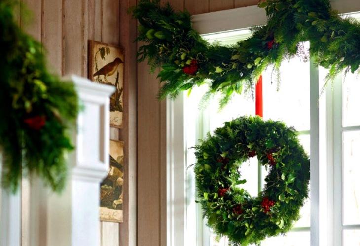 -окна-19 Украшения на окна к Новому году: 13 идей для праздничного настроения