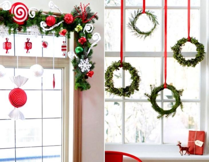 -окна-20 Украшения на окна к Новому году: 13 идей для праздничного настроения