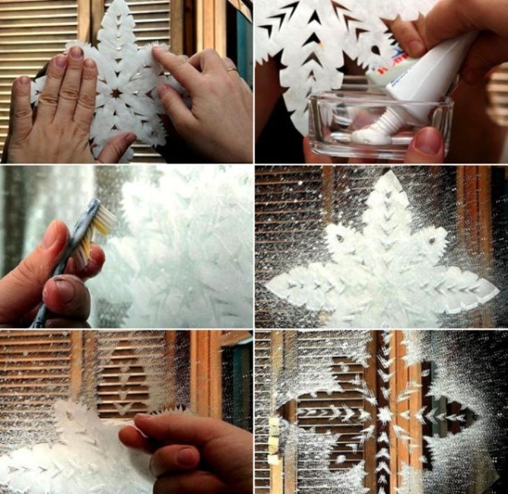 -окна-3 Украшения на окна к Новому году: 13 идей для праздничного настроения