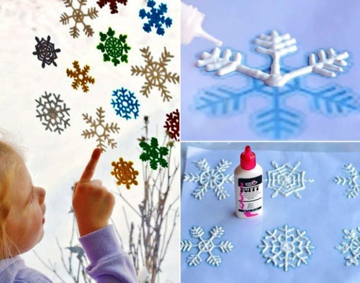 -окна-4 Украшения на окна к Новому году: 13 идей для праздничного настроения