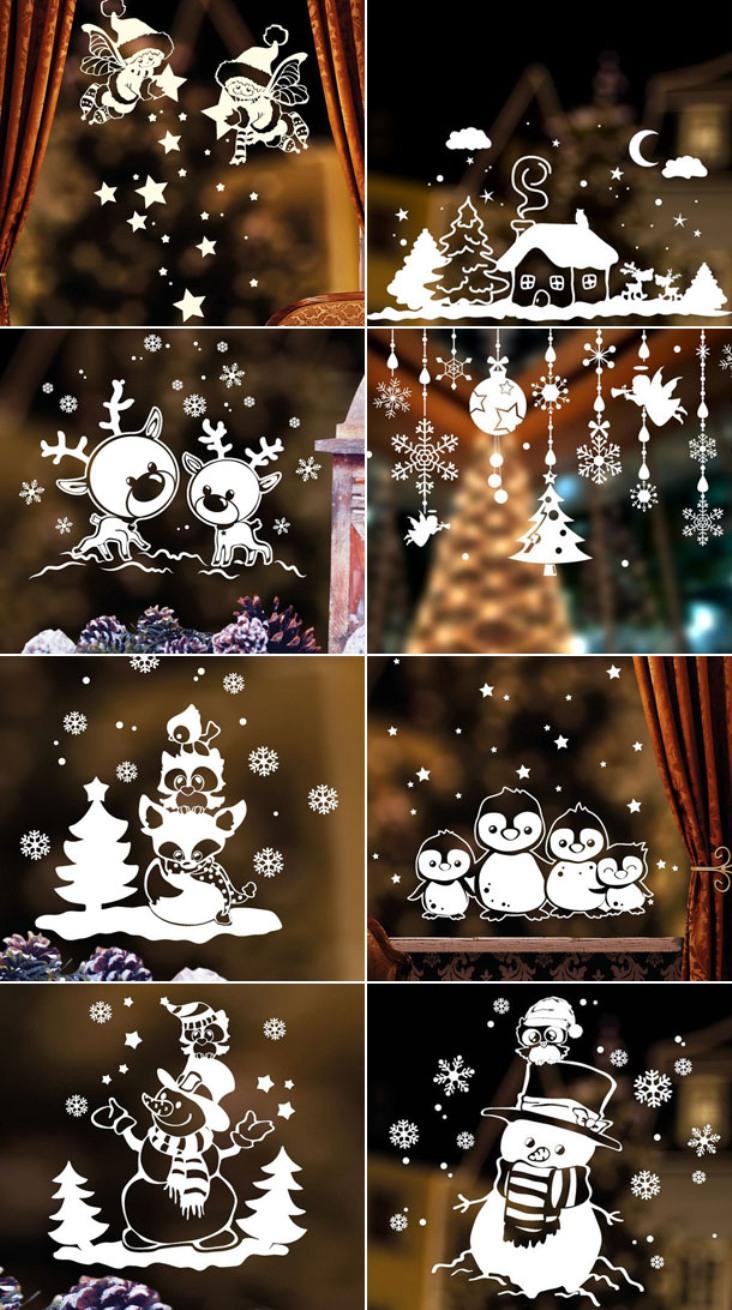 -окна-7 Украшения на окна к Новому году: 13 идей для праздничного настроения