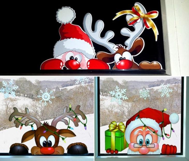 -окна-8 Украшения на окна к Новому году: 13 идей для праздничного настроения